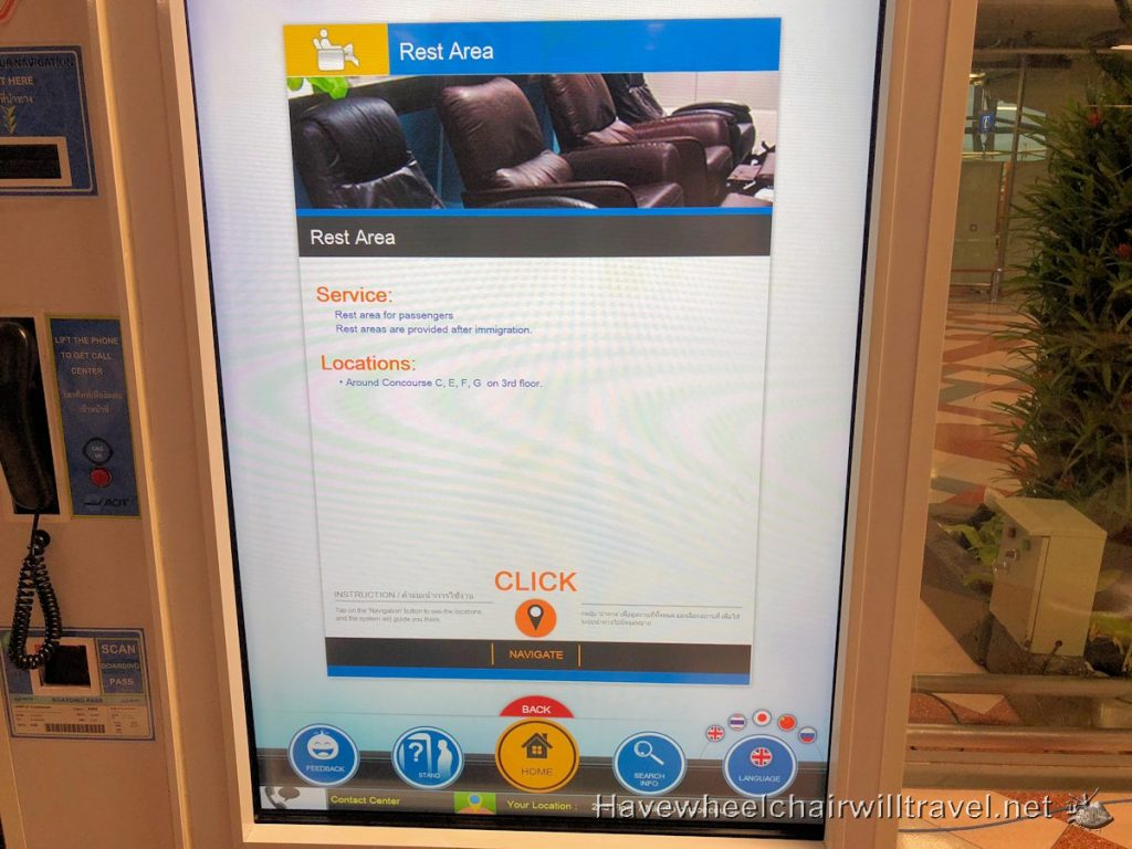 accessible touch screen board Bangkok Airport